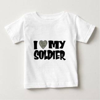 ACUのハート- I愛私の兵士 ベビーTシャツ