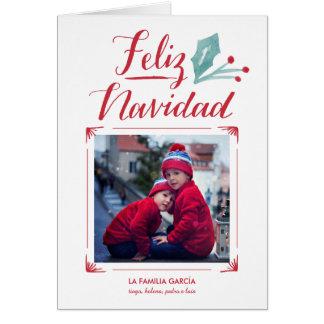 Acuarela yのLa Caligrafía | Feliz Navidad カード