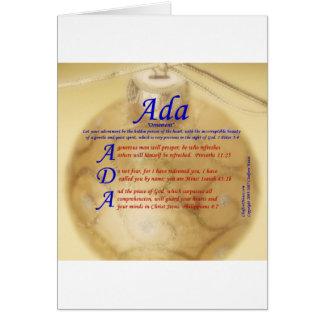 Adaの折句 カード