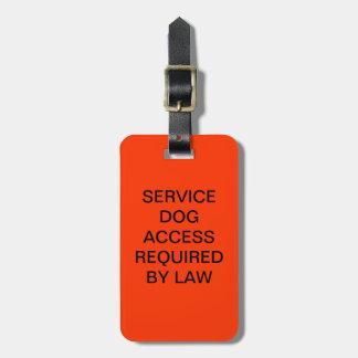 ADAはDOJの電話番号と犬の法律のラベルを整備します ラゲッジタグ