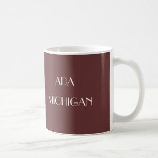 Adaミシガン州のコーヒー・マグ コーヒーマグカップ