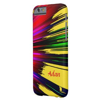 Adanの赤くおよび黄色のハイライトのiPhoneの箱 Barely There iPhone 6 ケース