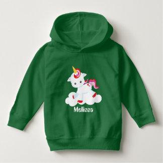 Add name toddler girls unicorn hoodie パーカ
