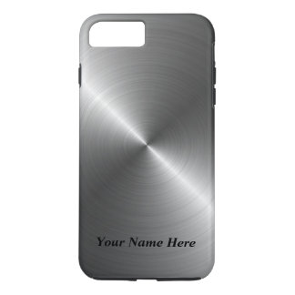 Add Your Name Steel Metal Look iPhone 8 Case iPhone 8 Plus/7 Plusケース