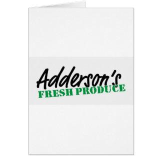 Addersonの生鮮食品 カード