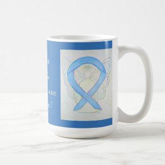 Addisonの病気の認識度のリボンの天使のマグ コーヒーマグカップ