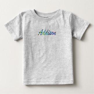 Addisonの赤ん坊の罰金のジャージーのTシャツ ベビーTシャツ