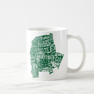 Addison郡のタイポグラフィ11のozのクラシックで白いマグ コーヒーマグカップ