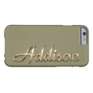 """""""Addison""""のカスタムなモノグラムのiPhone 6/6sの場合 Barely There iPhone 6 ケース"""