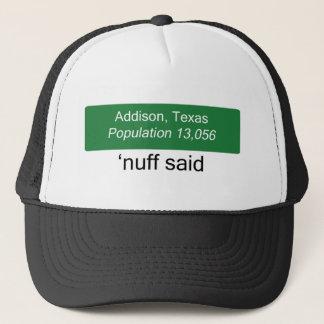 Addison 「Nuffは帽子を言いました キャップ