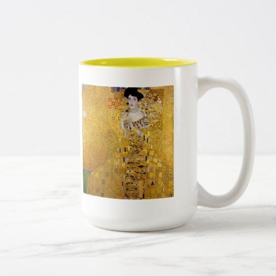 """"""" Adele Bloch-Bauer's Portrait """" , Gustav Klimt ツートーンマグカップ"""