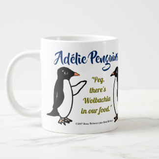 Adélieのペンギン20のoz。 RoseWrites著マグ ジャンボコーヒーマグカップ