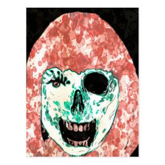 ADHのゾンビの水彩画の郵便はがき ポストカード