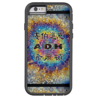 ADHの虹はiPhoneの箱に斑点を付けます Tough Xtreme iPhone 6 ケース