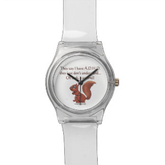 ADHDのリスのユーモア 腕時計