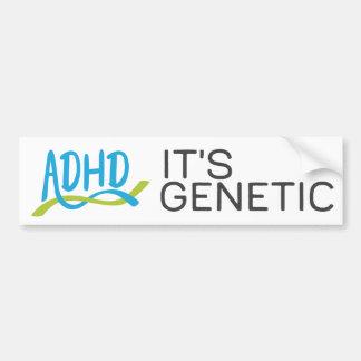 ADHD DNA -それは遺伝です バンパーステッカー