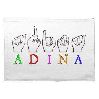 ADINA FINGERSPELLED ASLの一流の印 ランチョンマット