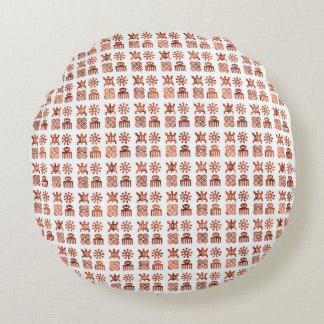 "Adinkraの記号の円形の装飾用クッション(16"") ラウンドクッション"