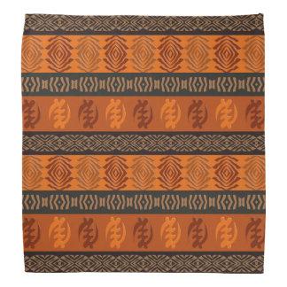 Adinkraのsimbolsが付いている民族のアフリカパターン バンダナ
