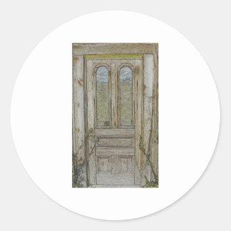 Adirondackのドアおよび反映された空 ラウンドシール