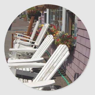 Adirondackの椅子カード ラウンドシール