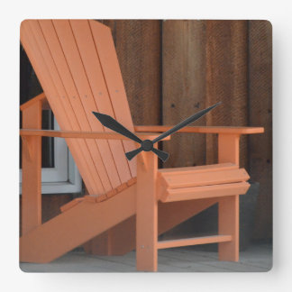 Adirondackの椅子 スクエア壁時計