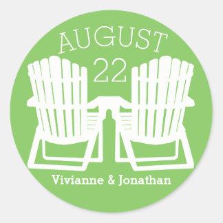 Adirondackの椅子 ラウンドシール