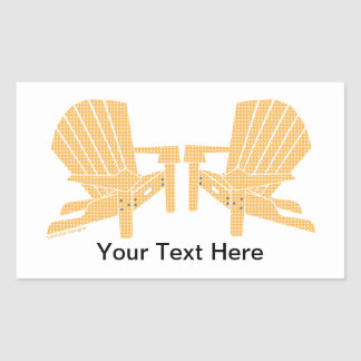 Adirondackの椅子 長方形シール