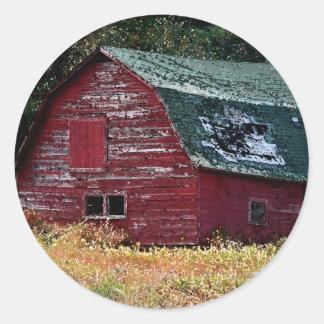 Adirondackの納屋のステッカー ラウンドシール