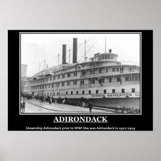 Adirondackの1917年のヴィンテージの写真ポスター ポスター