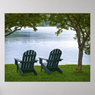 Adirondackは湖の直面の議長を務めます ポスター