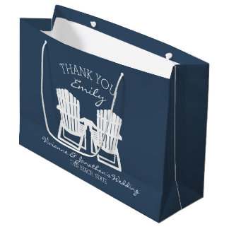 Adirondackは濃紺の議長を務めます ラージペーパーバッグ