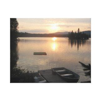 Adirondack湖、NY キャンバスプリント