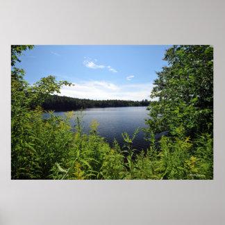 Adirondacksのインド湖。 プリント08 046 ポスター