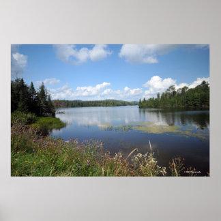 Adirondacksのインド湖。 プリント08 123 ポスター