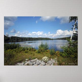Adirondacksのインド湖。 プリント08 129 ポスター