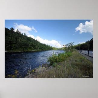 Adirondacksのハドソン川。 プリント08 160 ポスター