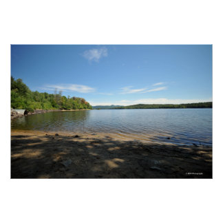 Adirondacksのプリント08 036のインド湖 ポスター