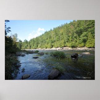 Adirondacksのプリント08 165のハドソン川 ポスター