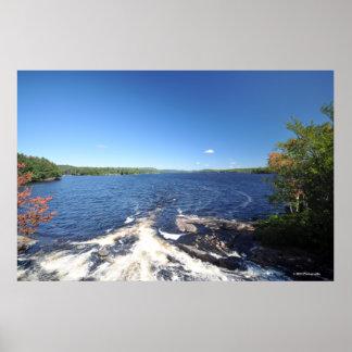 Adirondacksのプリント08 189のfreshwater湖 ポスター
