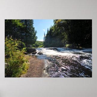 Adirondacksのプリント08 292のRaquetteの川 ポスター