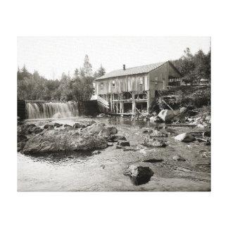 Adirondacksの古い製造所、1903年 キャンバスプリント