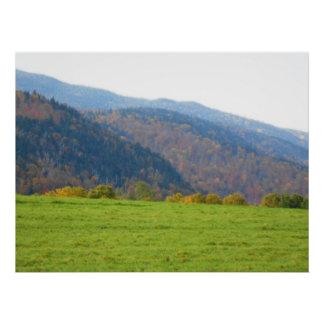 Adirondacksの最も高いピーク山の秋 ポスター