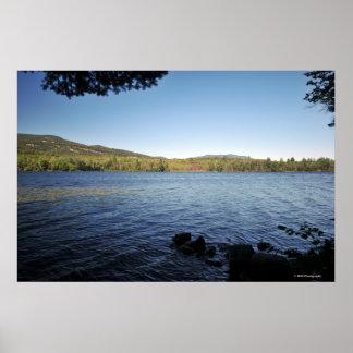 Adirondacksの湖。 プリント08 339 ポスター