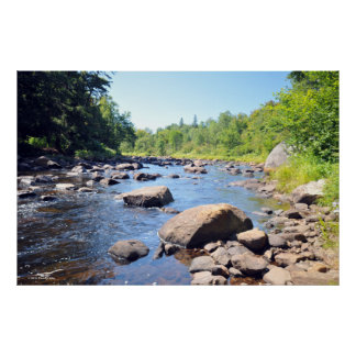 AdirondacksのAuSableの川。 プリント08 305 ポスター