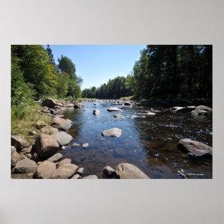 AdirondacksのAuSableの川。 プリント08 309 ポスター