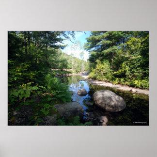 AdirondacksのAuSableの川。 プリント120 ポスター