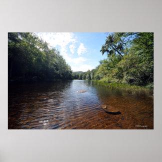 AdirondacksのAuSableの川。 08 092 ポスター
