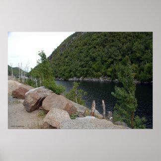 Adirondacksのfreshwater湖。 プリント009 ポスター