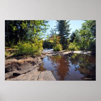 AdirondacksのRaquetteの川。 プリント08 215 ポスター
